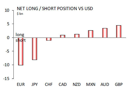 Net Long or Short Position vs USD