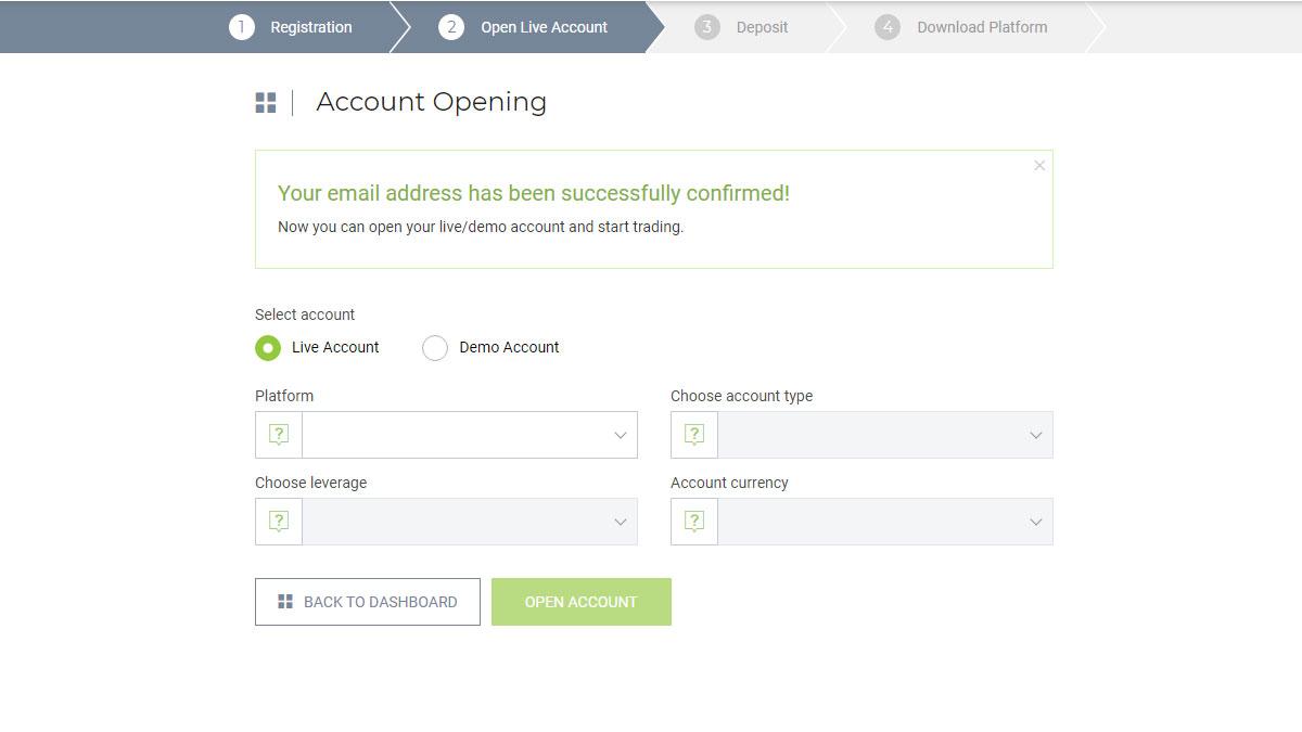 forex open account